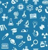 La Science, fond, sans couture, bleu, vecteur illustration stock