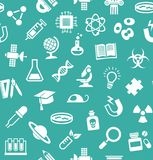 La Science, fond, sans couture, bleu-vert, vecteur illustration libre de droits