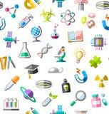 La Science, fond, sans couture, couleur, blanc, vecteur Images stock