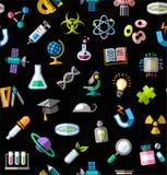 La Science, fond, sans couture, couleur, noir, vecteur Image stock