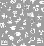 La Science, fond, sans couture, gris, vecteur illustration de vecteur