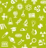 La Science, fond, sans couture, vert clair, vecteur illustration stock