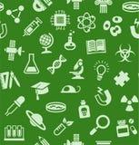La Science, fond, sans couture, vert, vecteur illustration stock