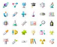 La Science, icônes, couleur, vecteur Photographie stock