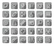 La Science, icônes, dessin de découpe, gris, vecteur Image libre de droits