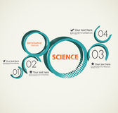 La Science infographic avec des cercles Photos libres de droits