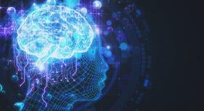 La Science, intelligence artificielle et fond de robotique Images libres de droits