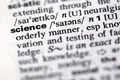 La scienza di parola in un dizionario Fotografia Stock Libera da Diritti