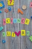 La scienza uguaglia l'iscrizione futura Immagini Stock Libere da Diritti