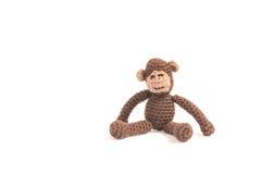 La scimmia tricotta Immagini Stock Libere da Diritti