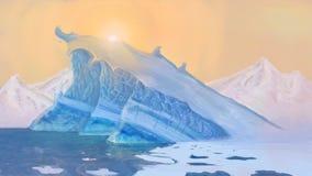 La scogliera del ghiaccio Fotografie Stock