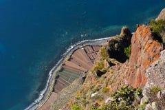 La scogliera di Cabo Girao veduta dal punto di vista Fotografia Stock Libera da Diritti