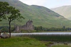 La Scozia, castello del kilchurn, timore del lago Fotografie Stock