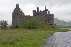La Scozia, castello del kilchurn, timore del lago Immagine Stock