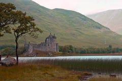 La Scozia, castello del kilchurn, timore del lago Immagine Stock Libera da Diritti