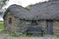 La Scozia, culloden, il vecchio cottage del leanach Fotografia Stock Libera da Diritti