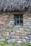 La Scozia, culloden, il vecchio cottage del leanach Fotografie Stock Libere da Diritti