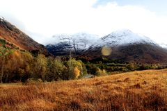 La Scozia, Glencoe Fotografia Stock