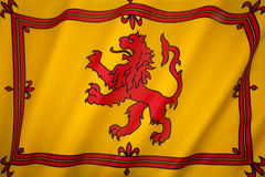 La Scozia - Lion Rampant Flag - norma reale scozzese Fotografia Stock