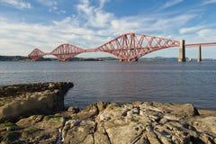 La Scozia, ponte queensferry e avanti ferroviario del sud Fotografia Stock Libera da Diritti