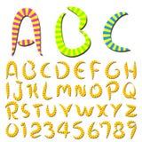 La scrittura della mano barra la fonte tipografica Immagine Stock