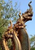La sculpture Art Lanna de Brown de serpent Photos libres de droits
