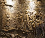 La sculpture dans Huanglongxi, Chengdu, porcelaine Photographie stock