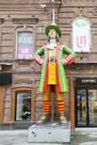 La sculpture dans la rue piétonnière, Iekaterinbourg, Fédération de Russie Photos libres de droits