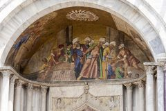 La sculpture de Basilica di San Marco à Venise, Italie Image stock