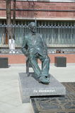 La sculpture de l'architecte Le Corbusier, Moscou, Russie Image stock