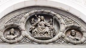 La sculpture de la cathédrale du Christ le sauveur à Moscou photographie stock