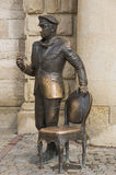 La sculpture de la cintreuse d'Ostap dans Pyatigorsk, Russie Images libres de droits