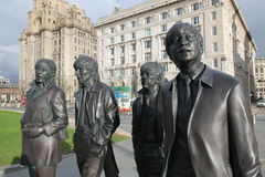 La sculpture en Beatles image libre de droits