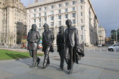 La sculpture en Beatles photos libres de droits