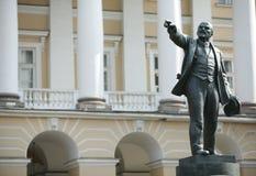 La sculpture en bronze de Lénine Images libres de droits