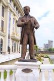 La sculpture en bronze de Stefan Gajdov, la première a instruit le Macédonien image libre de droits
