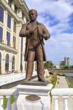 La sculpture en bronze de Stefan Gajdov, la première a instruit le Macédonien images libres de droits