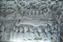 La sculpture en histoire de Bouddha photos libres de droits
