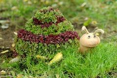 La sculpture en jardin un escargot Images stock