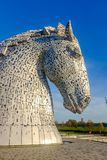 La sculpture en Kelpies par Andy Scott, Falkirk, Ecosse Photos libres de droits