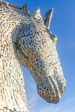 La sculpture en Kelpies par Andy Scott, Falkirk, Ecosse Photos stock