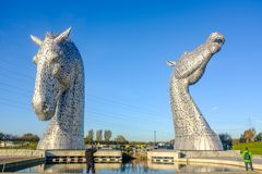 La sculpture en Kelpies par Andy Scott, Falkirk, Ecosse Photo libre de droits