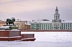 La sculpture en lion dans le St Petersbourg, Russie Image libre de droits