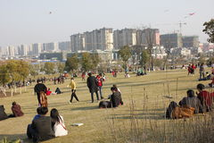 La sculpture en parc de sculpture en Wuhu (Anhui) Photo libre de droits