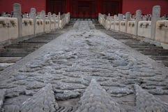 La sculpture en pierre de dragon Photographie stock