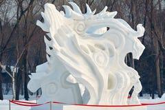 La sculpture en wildness de neige Images libres de droits
