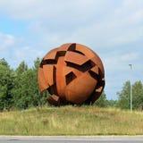 La sculpture la sphère opposée dans LuleÃ¥ images libres de droits