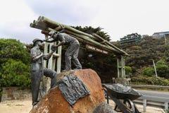 La sculpture sur la grande route d'océan dans l'Australie Images libres de droits