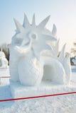 La sculpture sur neige - la chanson d'amour Photo libre de droits