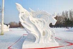 La sculpture sur neige - wildness Photographie stock libre de droits